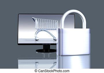 shopping, seguro, online