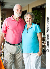 Shopping Seniors - Portrait