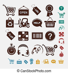 shopping set of icons