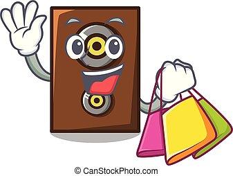 Shopping speaker character cartoon style