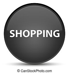 Shopping special black round button