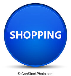 Shopping special blue round button