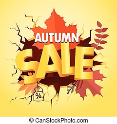 Shopping special offer template. Autumn sale