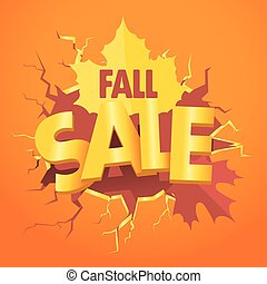 Shopping special offer template. Fall sale