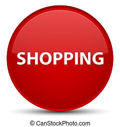 Shopping special red round button
