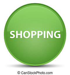 Shopping special soft green round button