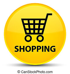 Shopping special yellow round button