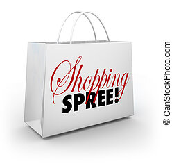 Shopping Spree Bag Marketplace Store Spending Money - The...
