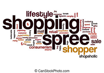 Shopping spree word cloud concept - Shopping spree word...