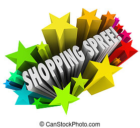 Shopping Spree Words Stars Winner Sweepstakes Prize