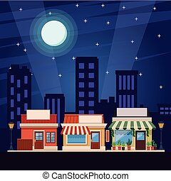 shopping store cartoon