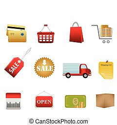Shopping symbols and icons