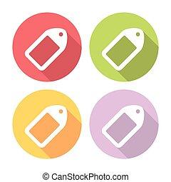 Shopping Tag Flat Icons Set