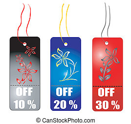 Shopping tag -vector
