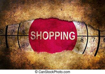 Shopping target grunge concept