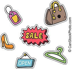 shopping themed cute patch