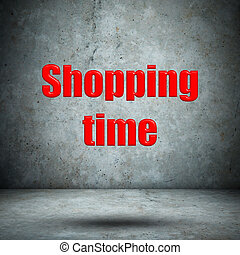 Shopping time concrete wall