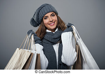 Shopping time during the winter