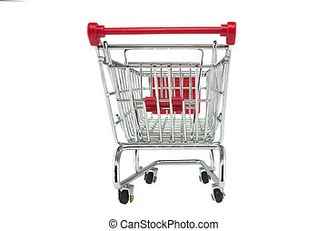 shopping trolley isolated