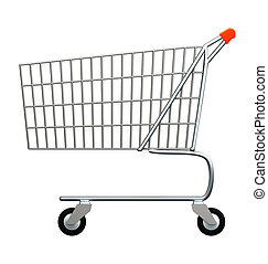 Shopping Trolley object isolated on white background