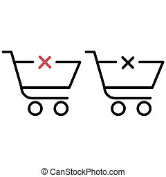 shopping trolley with a cross