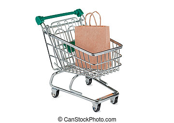 Shopping Trolley With Paper Bag
