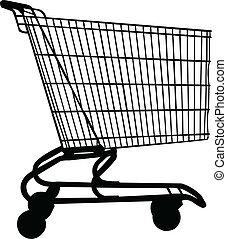 shopping, vagão, vetorial, -