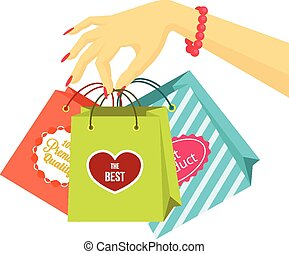 Shopping vector flat illustration