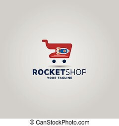 Shopping vector logo design template