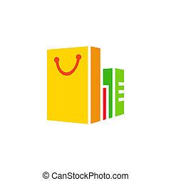 Shopping vector sign - Branding identity corporate logo...