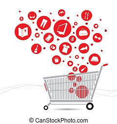 shopping vozík, design
