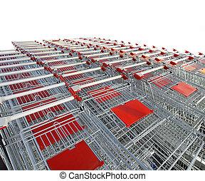 shopping vozík, grafické pozadí