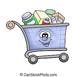 shopping vozík, happy.