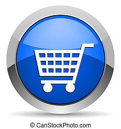 shopping vozík, ikona