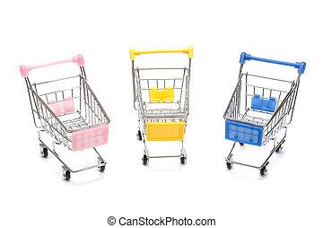 shopping vozík, oproti neposkvrněný