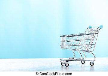 shopping vozík, proložit