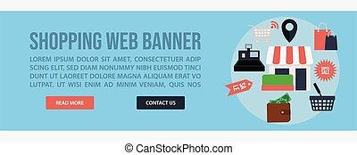 Shopping web banner template design