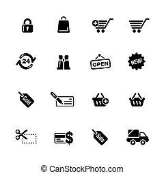 Shopping Web Icons // Black Series