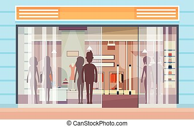 Shopping Window Modern Luxury Shop Exterior
