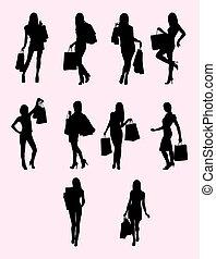 Shopping Woman Silhouette