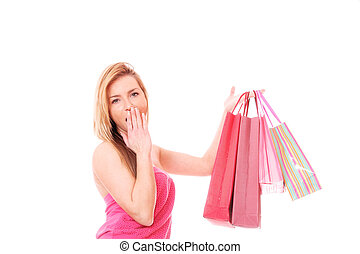 Shopping women smiling