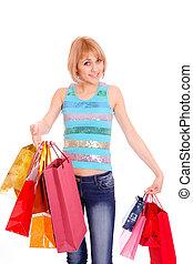 Shopping women smiling