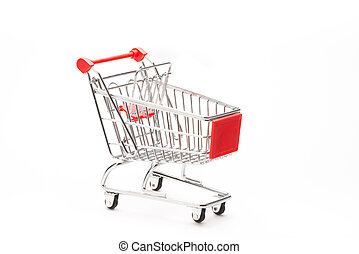 Shopping's caddy on white background