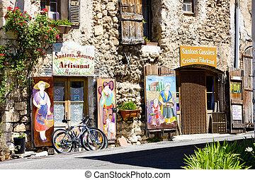 Aiguines - shops, Aiguines, Var Departement, Provence, ...