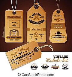 Shops Vintage Labels Set