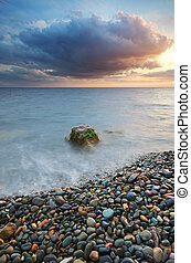 shore., ηλιοβασίλεμα , θάλασσα