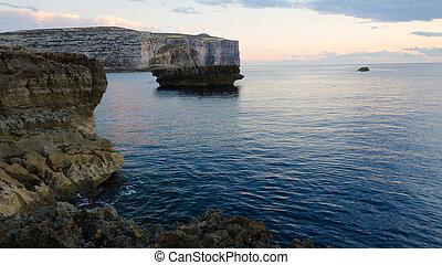 Shore near Azure Window, Gozo, Malta