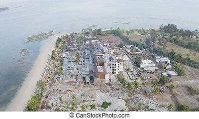 Hotel construction yard