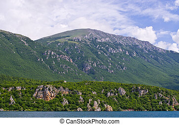 Shore of Ohrid lake in Macedonia