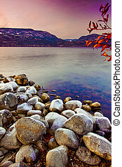 Shore of Scenic Lake in Winter